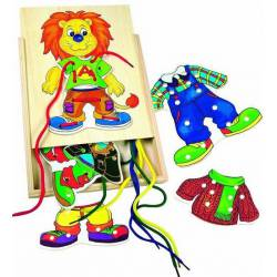 Threading dress-up lion. BINO 88102