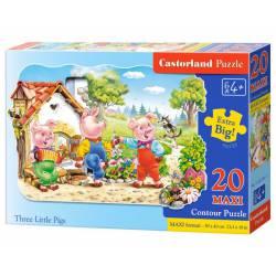 Three litlle pigs. CASTORLAND PUZZLE B-02184-1