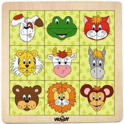 Puzzle: Animal Head. WOODY 91104