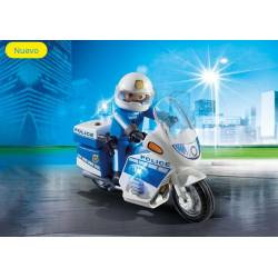 Police Bike with LED Light. PLAYMOBIL 6923