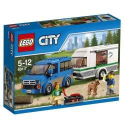City, Van and caravan. LEGO 60117