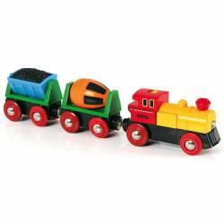 Tren de mercancías con luz. BRIO 33319