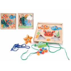 Game puzzle laces wooden. JE-126646
