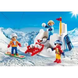 Snowball fight. PLAYMOBIL 9283