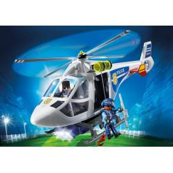 Police Helicopter with LED Searchlight. PLAYMOBIL 6921