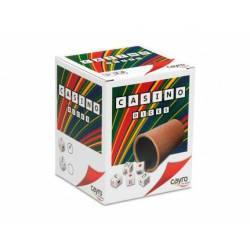 Lined beaker and poker dice. CAYRO 072/1
