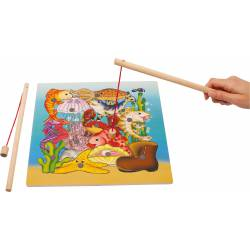 "Jigsaw Puzzle ""Fishing""."