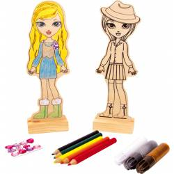 Colour in doll.