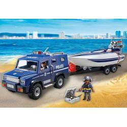 Police Truck with Speedboat.