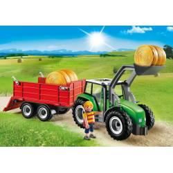 Large Tractor with Trailer.
