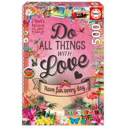 Do all things with love. 500 pcs.