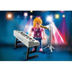 Singer with Keyboard.