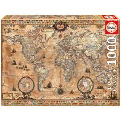 Antique world map, 1000 pcs.