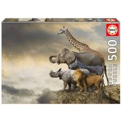 Animals on the edge of a cliff. 500 pcs.
