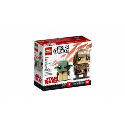 Luke Skywalker and Yoda.
