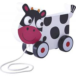 Pull-along cow.