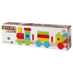 Animals wooden train.