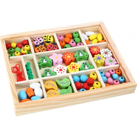Wooden Beads in a Box.