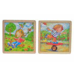 Wooden puzzle ''children''.