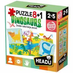 Puzzle 8+1 dinosaurs.