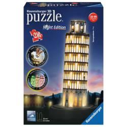 Tower of Pisa, night.