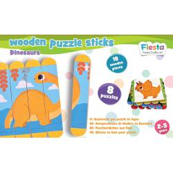 Puzzle sticks. Dinosaurs.