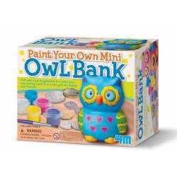 Paint your own mini owl bank.