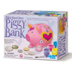 Paint your own piggy bank.