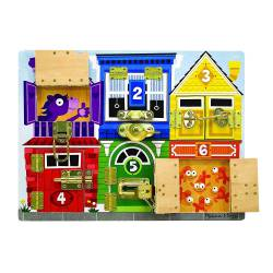 Latches board. MELISSA AND DOUG