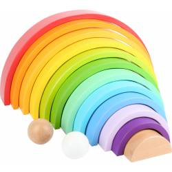 Wooden Building Blocks Rainbow XL.