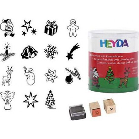 Rubber stamps. HEYDA