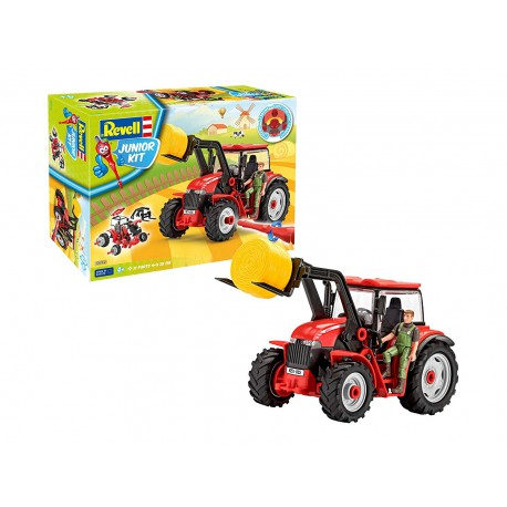 Tractor with figure.