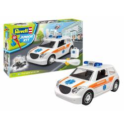 Police car with figure.