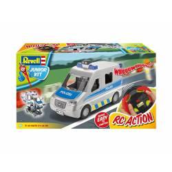 Police van with figure.