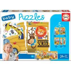 Baby puzzles wild animals.