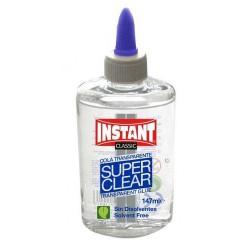 Transparent liquid glue. INSTANT