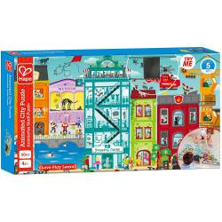 Animated city puzzle.
