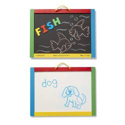 Magnetic chalk and Dry erase board.