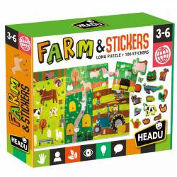 Farms with stickers.