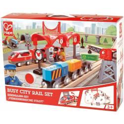 Busy city rail set.