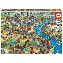 London map. 500 pcs.