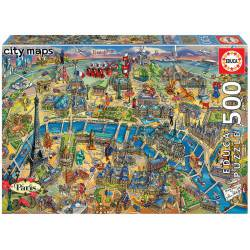 Paris map. 500 pcs.