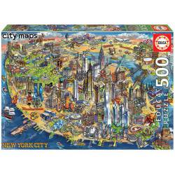 New York map. 500 pcs.