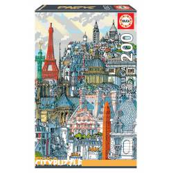 Paris. Educa City Puzzle. 200 pcs.