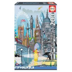 Londres. Educa City Puzzle. 200 pcs.