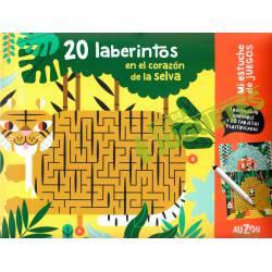 Mi estuche de juegos. 20 laberintos ''selva''.