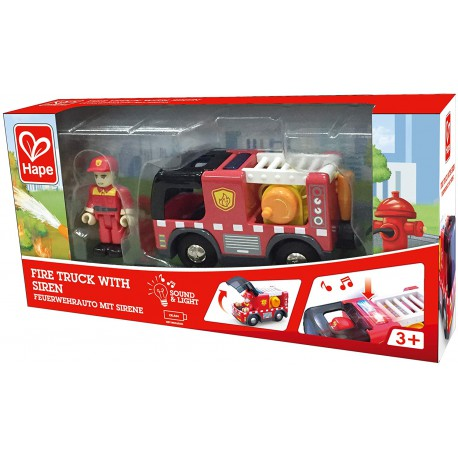 Fire truck with siren.