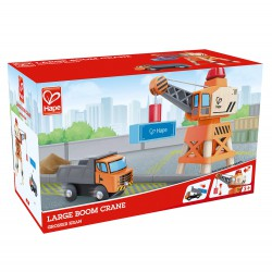 Large boom crane.