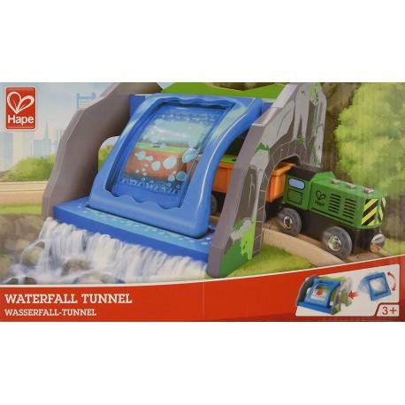 Waterfall tunnel.