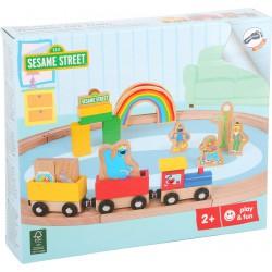 Sesame street wooden toy.
